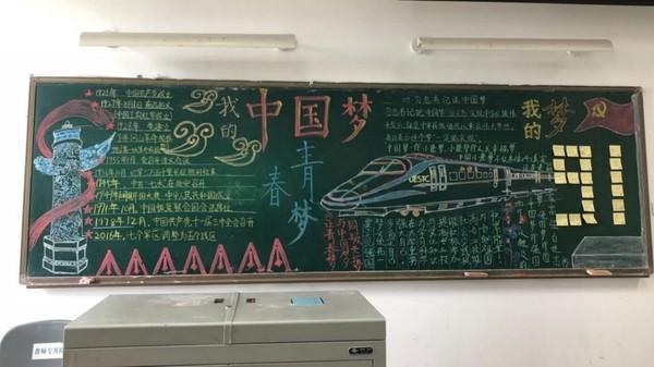 """格院学生党支部开展""""我的中国梦,我的青春梦""""板报创意"""